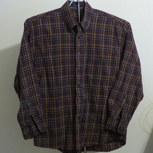 Men's Alan Flusser Long Sleeve Shirt SZ L